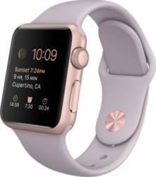 Apple Watch 38mm Carcasa Aluminiu Roz Auriu si Curea Sport